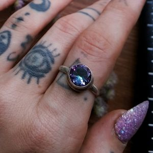 .925 Mystic Topaz Ring / size 7 / Sterling Silver